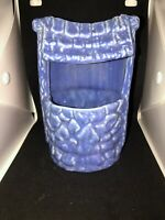 Vintage Wishing Well Planter Art Pottery Vintage Blue/Purple (RR)