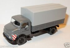 MICRO WIKING HO 1/87 TRUCK MB MERCEDES 1413 PICK-UP GREY GERMAN BUNDESPOST