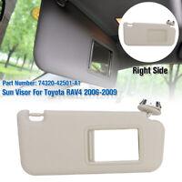 Driver Right Ivory Vinyl Sun Visor Genuine 74320-42501-A1 for Toyota Rav4  ☀
