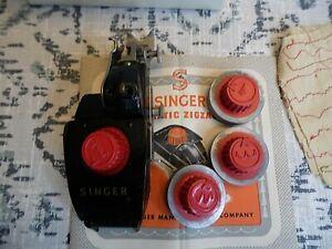 Vintage Singer Automatic Zigzagger Part No.161102 with Original Box