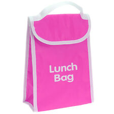 Thermal Cooler Lunch Bag Insulated Kids Office Hot Cold Food Portable School Pink