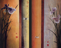 RISING (22x36) and WAITING (22x36) SET by DON LI-LEGER NICE 2PC CANVAS