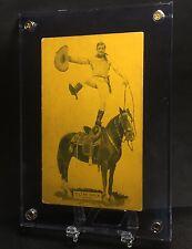 c1920 Gorgeous Htf Tom Mix Showboat Exhibit Pcard Western Wild West Cowboy Actor