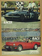 1980 Triumph SPITFIRE 1500 scca race car & convertible photo vintage print Ad