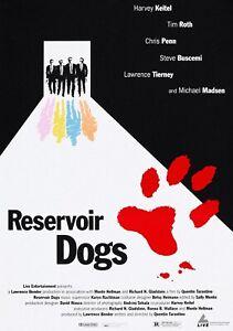 RESERVOIR DOGS Classic 90's Vintage Movie Poster Wall Film Art Print - Tarantino