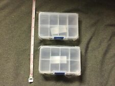 New Lot Of 2 Divided Plastic Containers