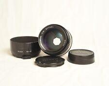 Near MINT Nikon NIKKOR 85mm f/2 Ai-S Lens w hood, caps.