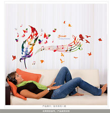 Bird Wall Vinyl Decal Quote Shakespeare Dandelion Feather Musical Notes Sticker