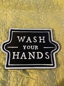 Was Your Hands Hearth and Hand with Magnolia Sign Bathroom Sign Joanna Gaines