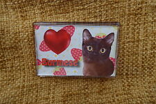 Cat Gift Burmese Cat Fridge Magnet 77x51mm, Birthday Xmas Gift Stocking Filler