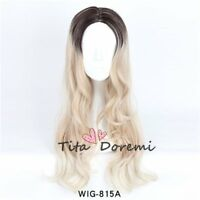Halloween Wig Lolita Brown Mix Long Curly Party Fashion Cosplay Full Hair