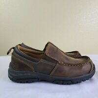 Timberland Discovery Pass Moc Toe Slip On Boys Leather Shoes 8871R Size 13 Brown