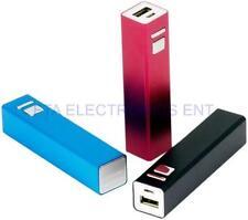 2600mAh Aluminum Shell Lithium Backup Battery USB Charger for iPad iPod Galaxy