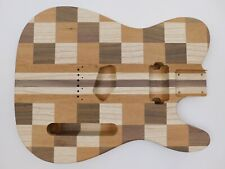 Swamp Ash, Walnut and Sapele T-Style Guitar Body
