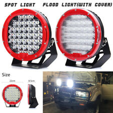 2Pcs 9'' 370W 6000K LED Spot/Flood Work Light Driving Lamp For Truck Pickup Jeep