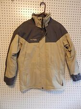 Mens Columbia XCO winter jacket - Medium - gray/taupe