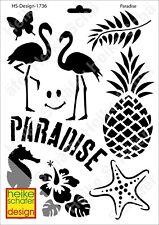 Schablone-Stencil A4 166-1736 Paradise -Neu- Heike Schäfer Design