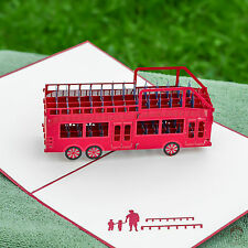 3d pop up cards Australia souvenir shuttle bus