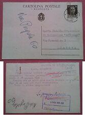 Molfetta-Genova Navigazione Garibaldi 1938: Cartolina postale