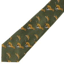 No.8 Tie Hounds & Hare Polyester by Bisley - Shooting Clothing Hunting Country