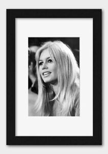 Actress Brigitte Bardot pictured at London Airport in 1966 Print