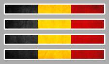 4 X BANDES DRAPEAU BELGE BELGIQUE 11cmX1cm AUTOCOLLANT STICKER AUTO AA159