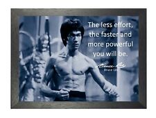 Bruce Lee 53 Hong Kong American Actor Film Director Martial Arts Quote Poster