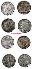 Netherlands Wilhelmina I  Silver  LOT OF 4 COINS 1935-1938 10 Cents  KM# 163