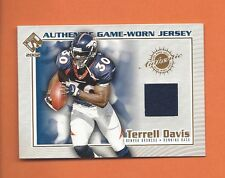 2002 PRIVATE STOCK RESERVE TERRELL DAVIS GAME-WORN JERSEY #43 DENVER BRONCOS