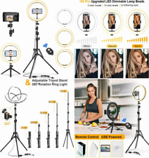 """Gped 12"""" Selfie Ring Light with Tripod Stand & Cell Phone Holder for Black 1"""