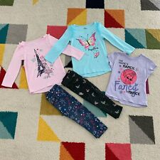 Disney Girls Fancy Nancy Clothes Lot Size 2T Butterflies Eiffel Tower