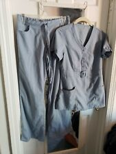 greys anatomy scrubs. Small Extra Small. Blue Gray Womens. Top & pant set