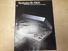 Technics Brochure for the SL-1300 Turntable ~ Original
