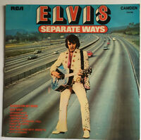ELVIS PRESLEY SEPARATE WAYS  LP RCA Camden CDS 1118 1973