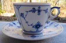 Royal Copenhagen Blue Fluted Plain Demitasse Cup and Saucer Set