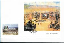 PERU 2004 FOUNDATION OF JAUJA HISTORY FDC WITH SOUVENIR SHEET SCOTT 1403 SS