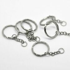 30PCs Dull Silver Color Key Chains & Key Rings Keychain Basic Jewelry DIY Suppli