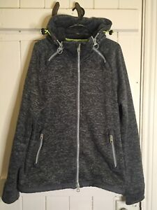 Mens Superdry Storm Double Zip Hoodie Jacket Size L Large Team Fuji Mountain