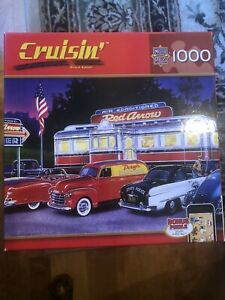Masterpieces Cruisin Jigsaw Puzzle Complete Dinner At The Red Arrow