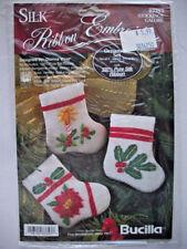 Bucilla Silk ribbon embroidery kit  Christmas mini stockings  ornaments