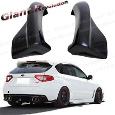 3K Carbon Fiber Rear Side Add Bumper Splitter Fit 08-14 Subaru STI WRX CS Design