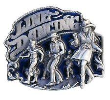 Buckle Fibbia Cintura Fibbia Cintura Line Dance Country Western Blu