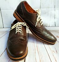 Bed Stu Men's Sz 11 Corsico Handmade Brown All Leather Oxford Wingtip