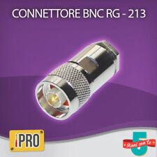 CONNETTORE MASCHIO N PER CAVO COASSIALE BNC RG 213 / 214 H1000 LMR400 UHF 50 Ohm