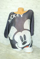 Italy New Collection T-Shirt Mickey Mouse Gr.36 38 40 blogger Pulli schwarz weiß
