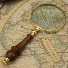 Magnifier Reading Repair Magnifying Glass Reader Wooden Handle Vintage Gift 3''