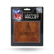 Los Angeles LA Chargers NFL Embossed Brown Leather Billfold Wallet