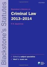 Blackstones Statutes on Criminal Law 2013-2014 (Blackstones Statute Series), , U