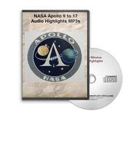 NASA Apollo 9, 10, 11, 12, 13, 14, 15, 16, 17 Audio Highlights MP3s CD - D437