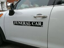 Funeral Car Magnet Sticker UnderTaker Coffin Coroner Magnetic 620mm